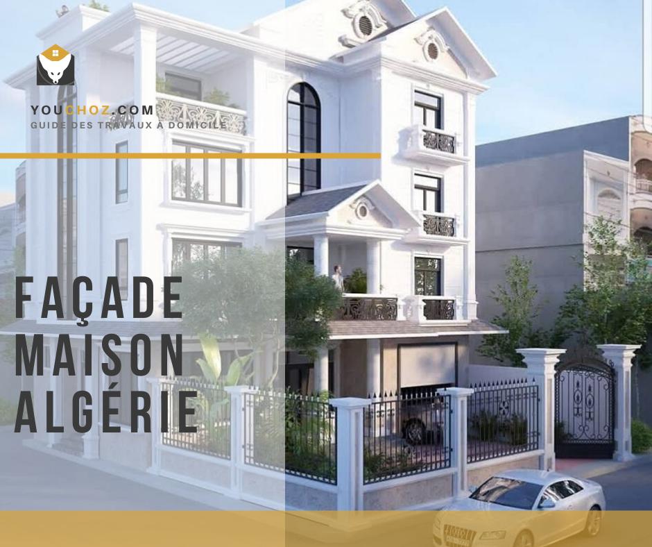 9 Modèles façade de maison moderne en Algérie : les plus belles